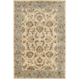 ecarpetgallery Handmade Timeless Yellow Wool Rug (6' x 8'11)