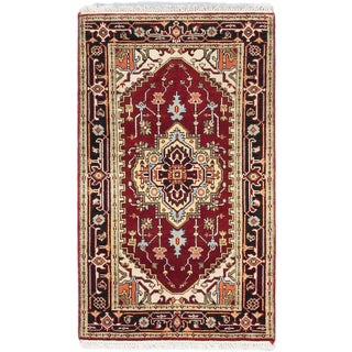 ecarpetgallery Hand-knotted Serapi Heritage Red Wool Rug (3' x 5')