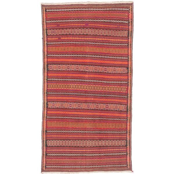 ecarpetgallery Handmade Persian Flatweave Persian Red Wool Sumak Rug (5'8 x 10'5)