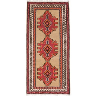 ecarpetgallery Handmade Persian Varamin Beige and Red Wool Kilim Rug (5' x 10'7)