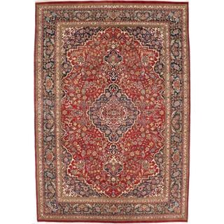 ecarpetgallery Hand-knotted Persian Tabriz Red Wool Rug (7'11 x 11'10)