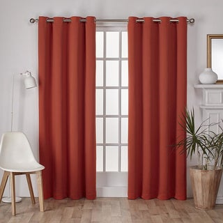 Sateen Twill Weave Insulated Blackout Window Curtain Panel (Pair)