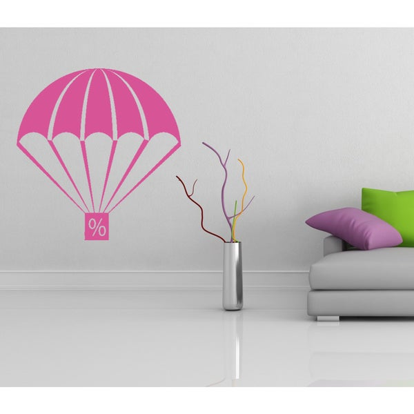 Parachute brolly sale discounts percent Wall Art Sticker Decal Pink