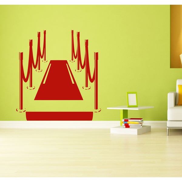The Red carpet Wall Art Sticker Decal Red