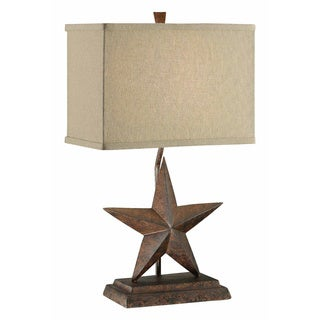 Crestview Collection 32-inch Rustic Wood Table Lamp