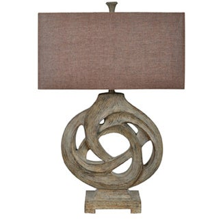 Crestview Collection 31-inch Aged Wood Table Lamp