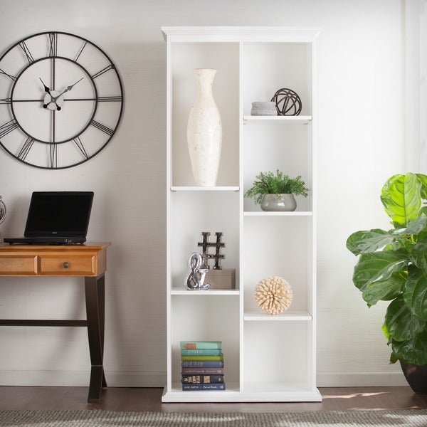 Harper Blvd Manuel Tall White Display Shelf