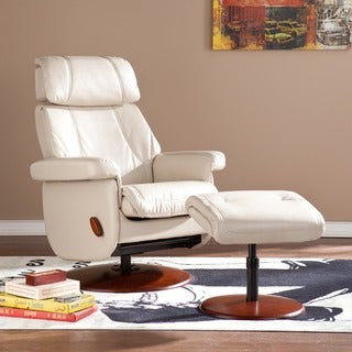 Upton Home Stanley Taupe Swivel Glide Rocking Recliner