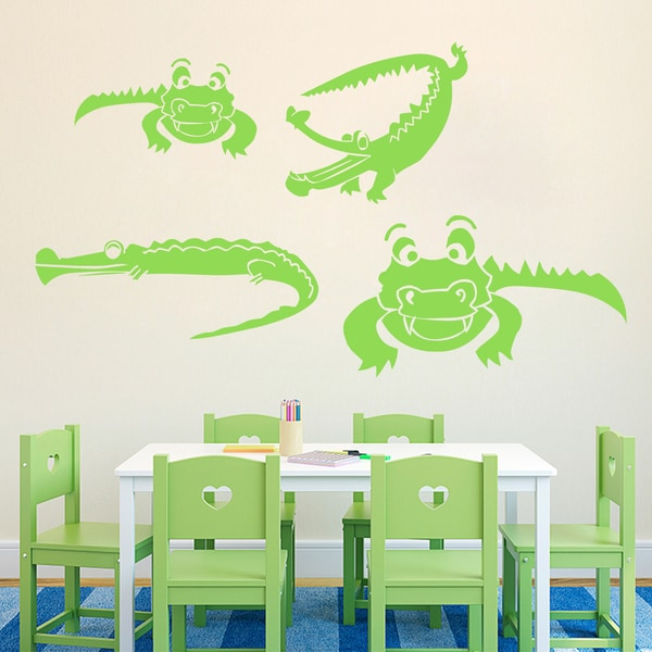 Set of Crocodiles Wall Decals 18289218