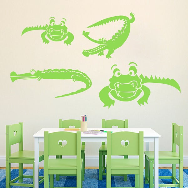Set of Crocodiles Wall Decals 18289221