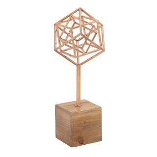 Innovative Metal Wood Copper Sculpture