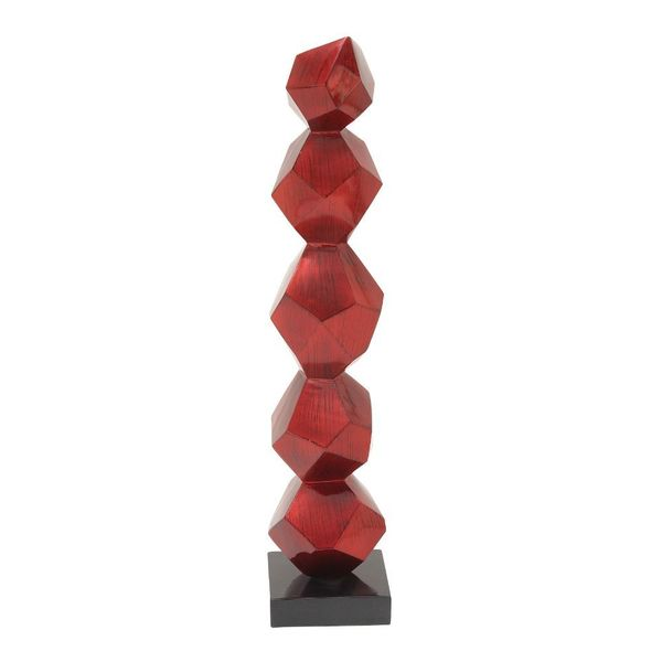 Astonishing Ps Red Sculpture