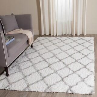 Safavieh Indie Shag Ivory/ Grey Polyester Rug (9' x 12')