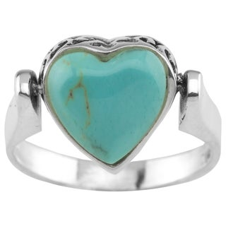 Sterling Silver Double Sided Heart/Cross Ring