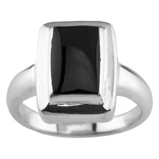 Sterling Silver Black Onyx Ring