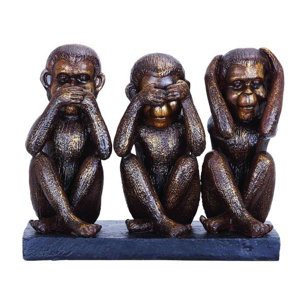 Monkey Speak, See, Hear No Evil Sculpture