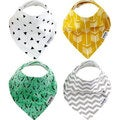 "Baby Bandana Drool Bibs, Unisex 4-PACK Absorbent Organic Cotton, Modern Baby Gift Set ""BOHEMIAN"" by Two Tree Baby"