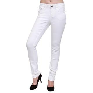 Women's Studded Back Pockets Comfy Skinny Jeans
