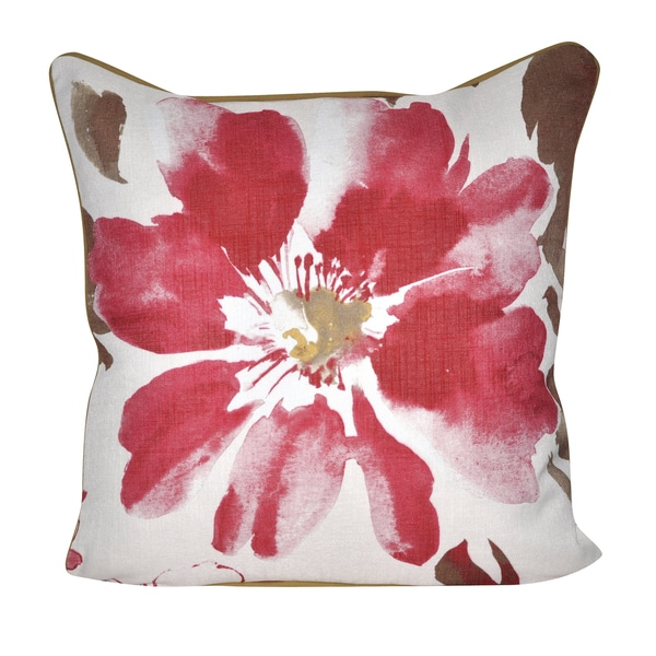 Loom and Mill 22-inch Super Flower Decorative Pillow