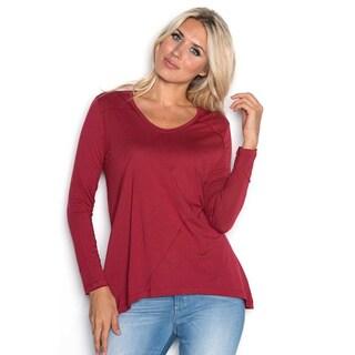 Beam Women's Long Sleeve Red T-Shirt
