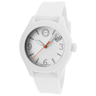 ESQ by Movado White Rubber and Stainless Steel Women's Watch