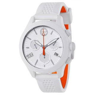ESQ by Movado Men's White Rubber and Stainless Steel Swiss Quartz Watch