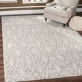 Safavieh Tunisia Ivory/ Light Grey Rug (9' x 12')