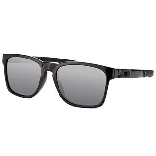 Oakley Catalyst OO9272-02 Polished Black Plastic Square Black Ididium Lens Sunglasses