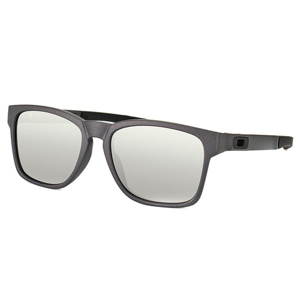 Oakley Catalyst OO9272-03 Steel Plastic Square Chrome Ididium Lens Sunglasses
