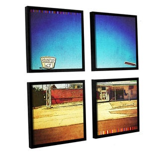 Greg Simanson's 'Fuel' 4 Piece Floater Framed Canvas Sqare Set