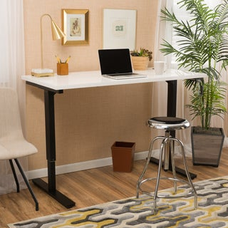 Christopher Knight Home Wendell 55-inch Adjustable Wood Standing Desk with Manual Base