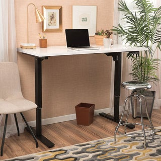 Christopher Knight Home Wendell 55-inch Adjustable Wood Standing Desk with Dual Powered Base