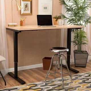 Christopher Knight Home Wendell 55-inch Adjustable Wood Standing Desk with Single Powered Base