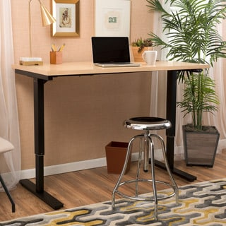 Christopher Knight Home Wendell 48-inch Adjustable Wood Standing Desk with Single Powered Base