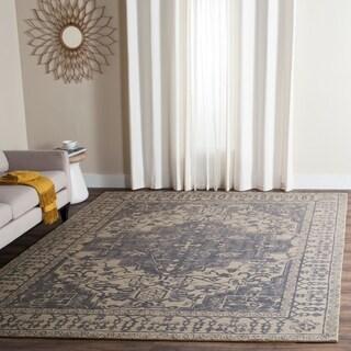 Safavieh Handmade Restoration Vintage Blue/ Grey Wool Rug (8' x 10')
