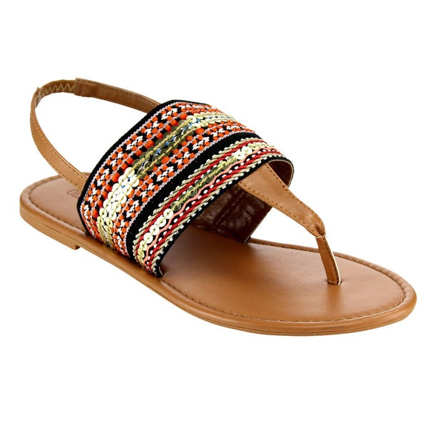 Olivia Miller Tribal Thong Sandals