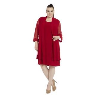 R&M Richards Women's Plus-size Jacket Dress