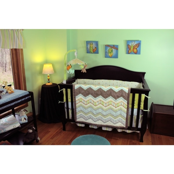 Nurture Imagination Zig Zag Baby 4-piece Nursery Bedding Set