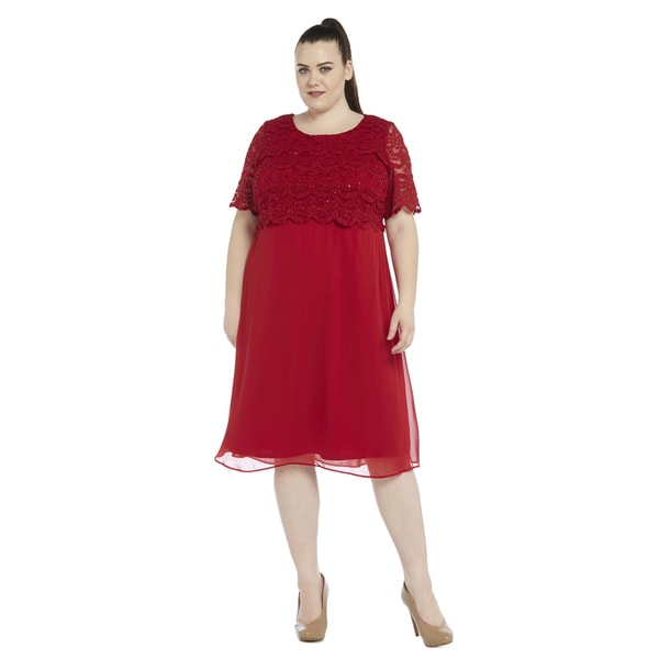 R&M Richards Plus-size Popover Dress