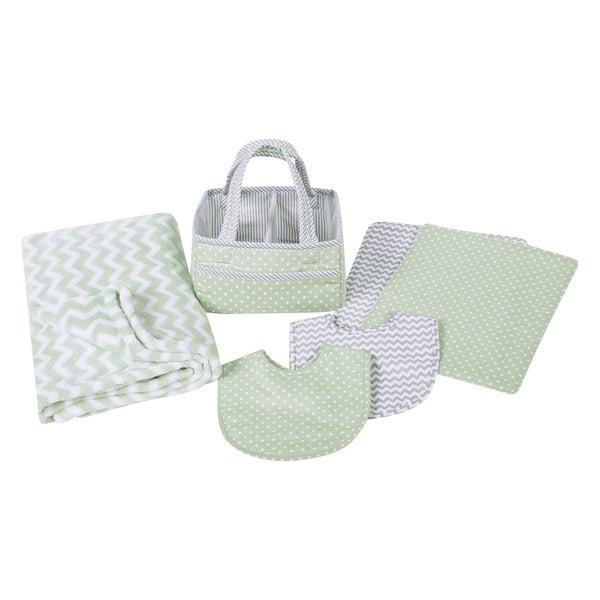 Trend Lab Sea Foam 6-piece Baby Care Gift Set