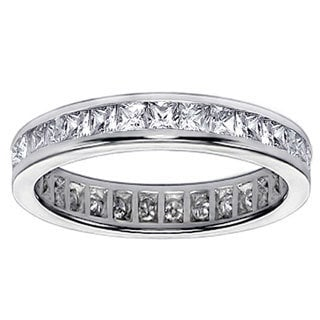Platinum 2ct TDW Diamond Eternity Wedding Band (G-H, SI1-SI2)