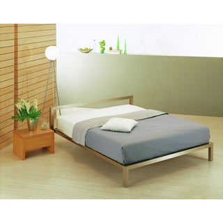 Toledo Metal Bed with Silver Finish