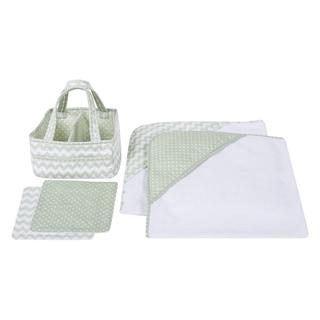 Trend Lab Sea Foam 5-piece Baby Bath Gift Set