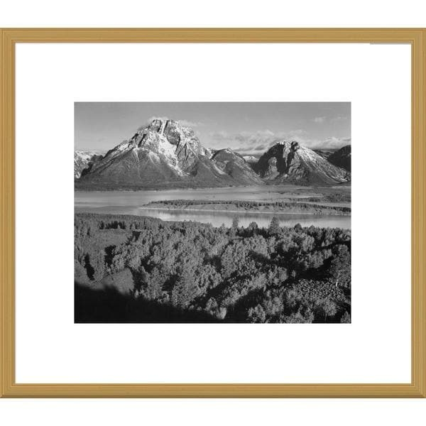Big Canvas Co., Ansel Adams 'View toward Mount Moran, Grand Teton National Park' Framed Art
