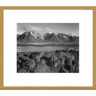 Big Canvas Co., Ansel Adams 'View across river valley, Grand Teton National Park, Wyoming' Framed Ar