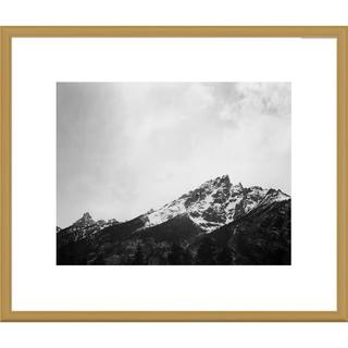 Big Canvas Co., Ansel Adams 'Snow covered peak in Grand Teton National Park, Wyoming' Framed Art