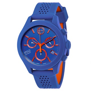 ESQ by Movado Blue and Orange Rubber and Stainless Steel Swiss Quartz Men's Watch