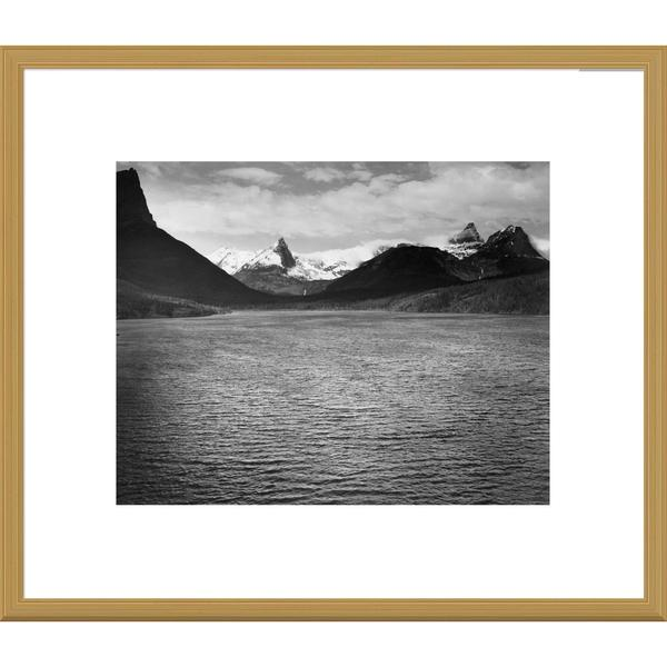 Big Canvas Co., Ansel Adams 'St. Mary's Lake, Glacier National Park, Montana' Framed Art