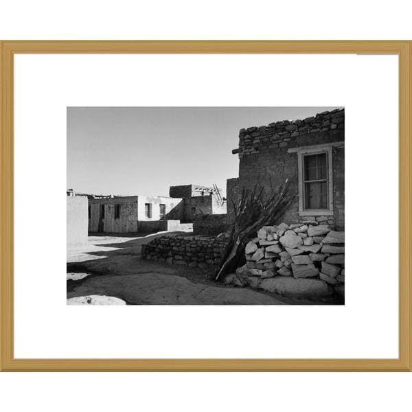 Big Canvas Co., Ansel Adams 'Street and Houses - Acoma Pueblo, New Mexico' Framed Art