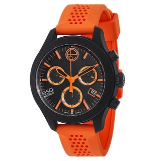 ESQ by Movado Orange and Black Rubber and Stainless Steel Swiss Quartz Men's Watch
